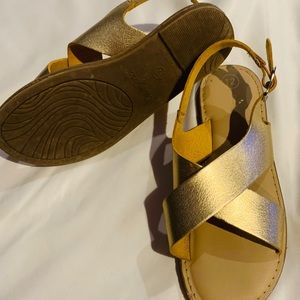 Golden Crisscross sandals